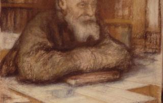 Портрет Николая Фёдорова работы Леонида Пастернака